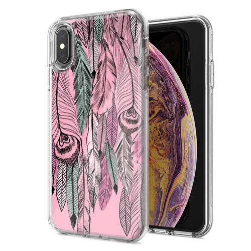 Apple iPhone XR Wild Feathers Design Double Layer Phone Case Cover