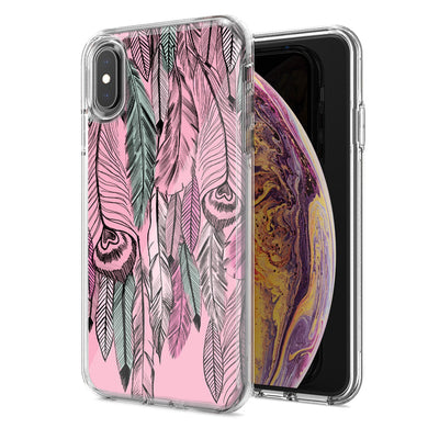 Apple iPhone XS Max Wild Feathers Design Double Layer Phone Case Cover