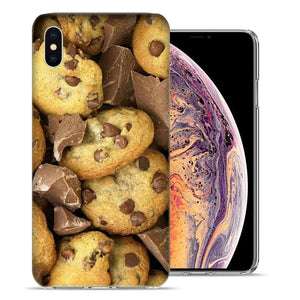 Apple iPhone XR 6.1 inch Chocolate Chip Cookies Design TPU Gel Phone Case Cover