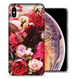 Apple iPhone XR 6.1 inch Colorful Flowers Design TPU Gel Phone Case Cover