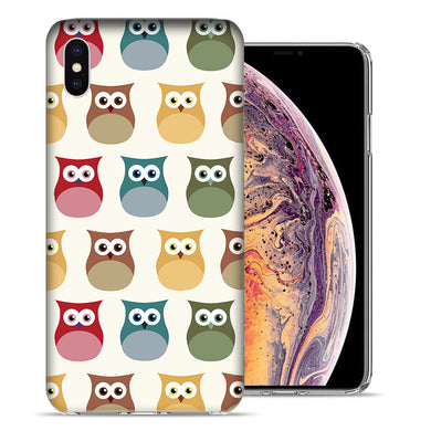 Apple iPhone XS And X Sweet Owls Design TPU Gel Phone Case Cover