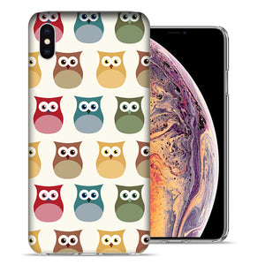 Apple iPhone XR 6.1 inch Sweet Owls Design TPU Gel Phone Case Cover