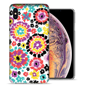 Apple iPhone XS Max 6.5 inch Fiesta Flowers Design TPU Gel Phone Case Cover