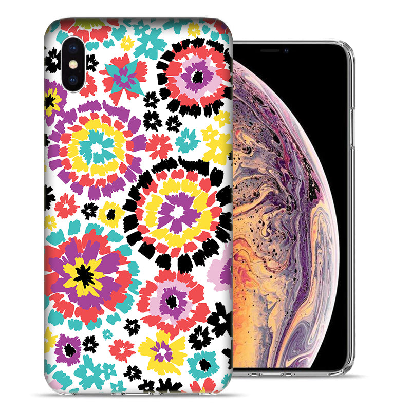Apple iPhone XS And X Fiesta Flowers Design TPU Gel Phone Case Cover