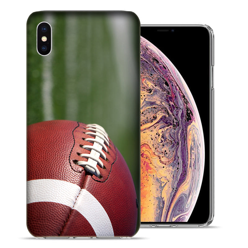 Apple iPhone XS Max 6.5 inch Football Design TPU Gel Phone Case Cover