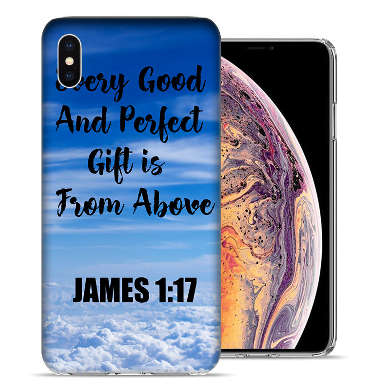 Apple iPhone XS Max 6.5 inch James Scripture Gift From Above Design TPU Gel Phone Case Cover