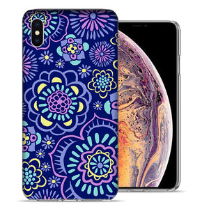 Apple iPhone XS Max 6.5 inch Indie Flowers Design TPU Gel Phone Case Cover