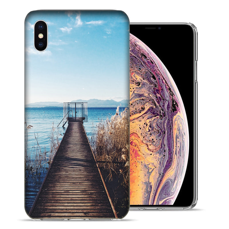 Apple iPhone XS Max 6.5 inch Lake View Design TPU Gel Phone Case Cover