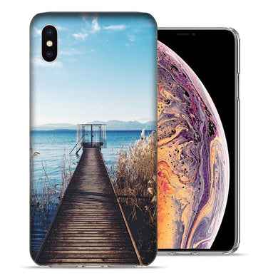 Apple iPhone XS And X Lake View Design TPU Gel Phone Case Cover
