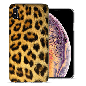 Apple iPhone XS Max 6.5 inch Classic Leopard Design TPU Gel Phone Case Cover