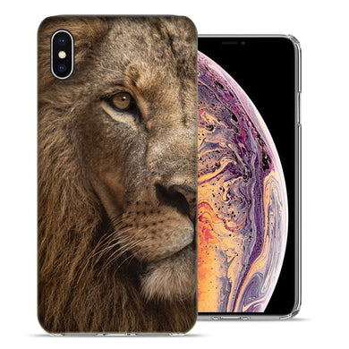 Apple iPhone XS And X Lion Face Design TPU Gel Phone Case Cover