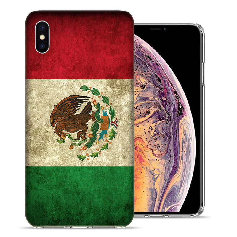 Apple iPhone XR 6.1 inch Mexico Flag Design TPU Gel Phone Case Cover