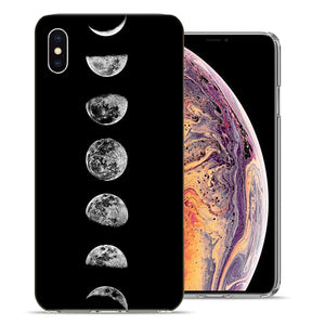 Apple iPhone XR 6.1 inch Moon Transitions Design TPU Gel Phone Case Cover