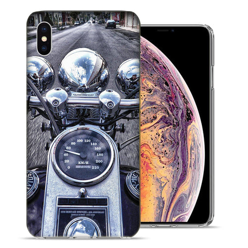Apple iPhone XS And X Motorcycle Chopper Design TPU Gel Phone Case Cover