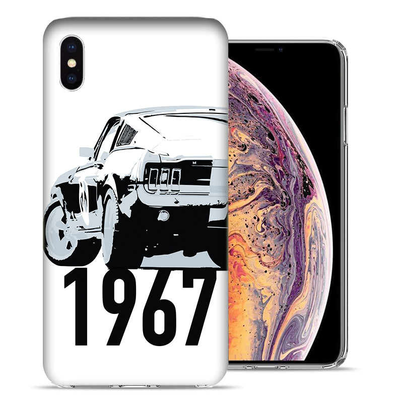 Apple iPhone XS And X 1967 Ford Mustang Design TPU Gel Phone Case Cover