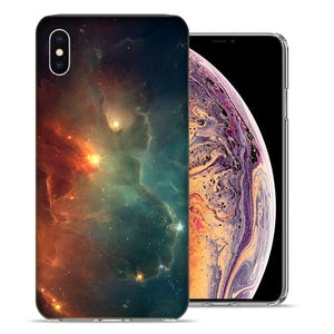 Apple iPhone XS Max 6.5 inch Nebula Design TPU Gel Phone Case Cover