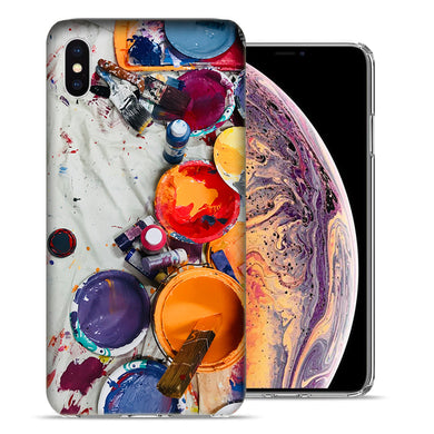 Apple iPhone XS And X Paint Buckets Design TPU Gel Phone Case Cover