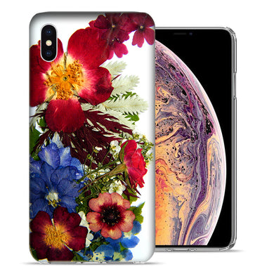 Apple iPhone XS And X Printed Pressed Blossoms Design TPU Gel Phone Case Cover