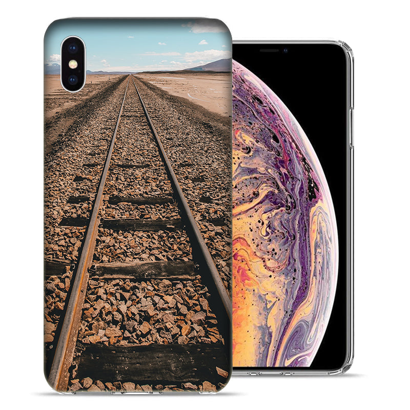 Apple iPhone XS And X Railroad Tracks Design TPU Gel Phone Case Cover