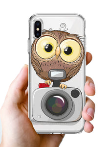Apple iPhone XR Baby Owl Camera Phone Cover Cases