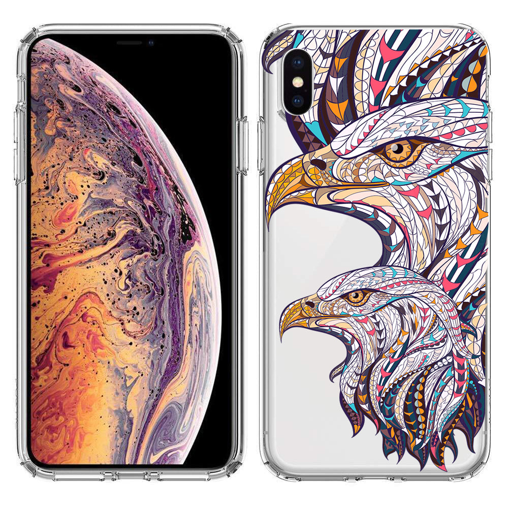 Apple iPhone XR Mosaic Colorful Bald Eagles Phone Cover Cases