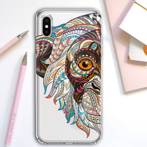 Apple iPhone XR Monkey Mosaic Colorful Phone Cover Cases