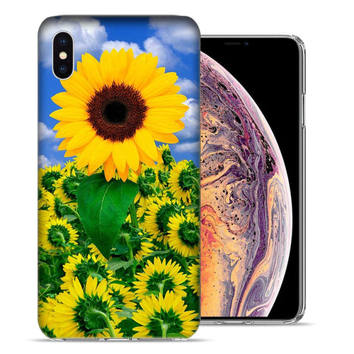Apple iPhone XS And X Sunflowers Design TPU Gel Phone Case Cover