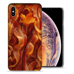 Apple iPhone XR 6.1 inch Tasty Bacon Design TPU Gel Phone Case Cover