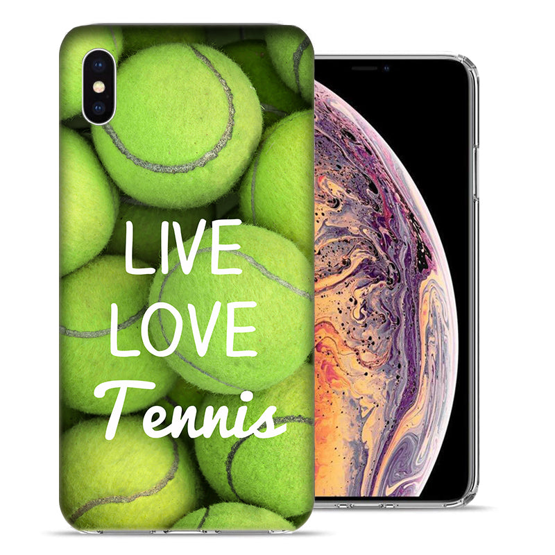 Apple iPhone XR 6.1 inch Love Tennis Design TPU Gel Phone Case Cover