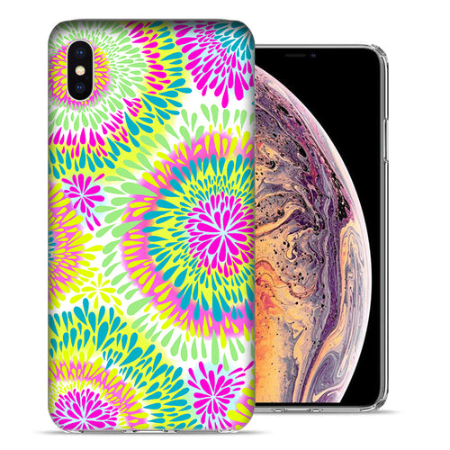 Apple iPhone XS And X Tie Dye Tears Design TPU Gel Phone Case Cover