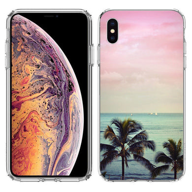 Apple iPhone XS And X Vacation Dreaming Design TPU Gel Phone Case Cover