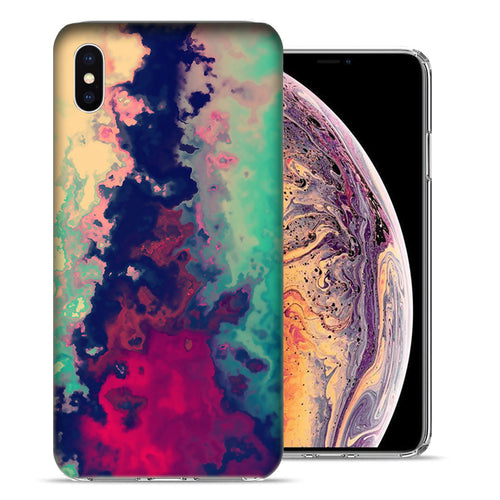 Apple iPhone XS And X Watercolor Paint Design TPU Gel Phone Case Cover