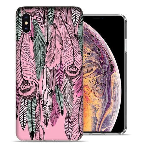 Apple iPhone XS And X Wild Feathers Design TPU Gel Phone Case Cover