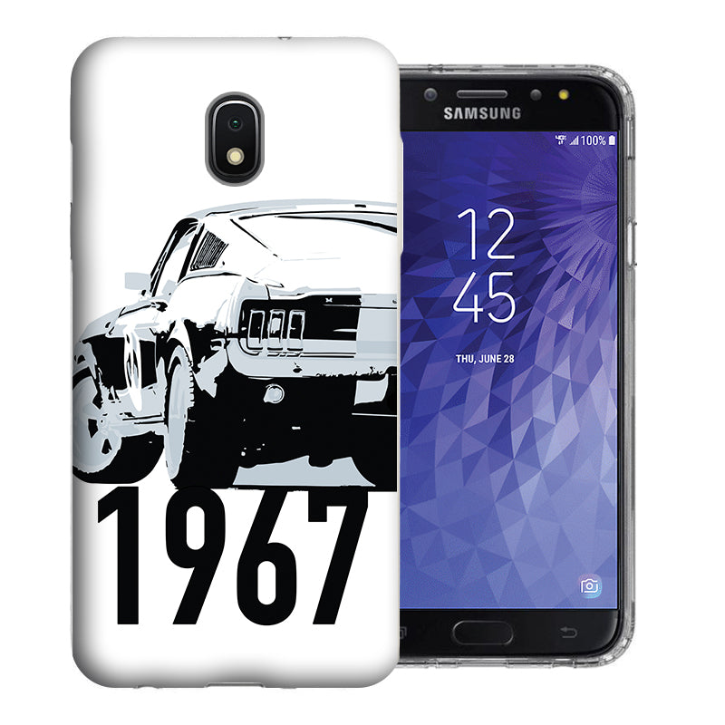 Samsung Galaxy J3 Achieve/ Express Prime 3/ Amp Prime 3 2018 1967 Ford Mustang Design TPU Gel Phone Case Cover