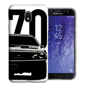 Samsung Galaxy J3 J337 2018 1970 Challenger Design TPU Gel Phone Case Cover