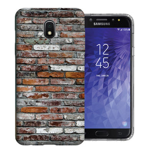 Samsung Galaxy J3 Achieve/ Express Prime 3/ Amp Prime 3 2018 Brick Wall 2 Design TPU Gel Phone Case Cover