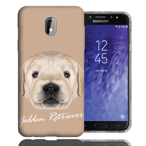 Golden Retriever Puppy Galaxy J3 Case - Samsung Galaxy J3 (2018) J337 Achieve/ Express Prime 3/ Amp Prime 3 - UV Printed Design Phone Cover