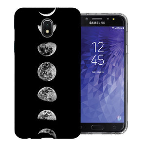 Samsung Galaxy J3 J337 2018 Moon Transitions Design TPU Gel Phone Case Cover