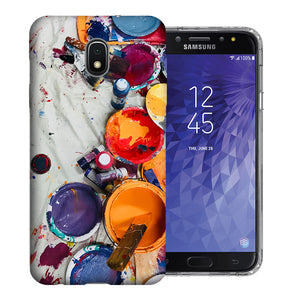 Samsung Galaxy J3 Achieve/ Express Prime 3/ Amp Prime 3 2018 Paint Buckets Design TPU Gel Phone Case Cover