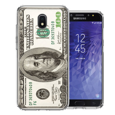 Samsung J3 2018/J337/AMP Prime 3/J3 Achieve Benjamin $100 Bill Design Double Layer Phone Case Cover