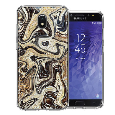 Samsung J3 2018/J337/AMP Prime 3/J3 Achieve Snake Abstract Design Double Layer Phone Case Cover