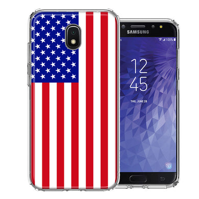 Samsung J3 2018/J337/AMP Prime 3/J3 Achieve USA American Flag  Design Double Layer Phone Case Cover