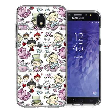 Samsung J3 2018/J337/AMP Prime 3/J3 Achieve Wonderland Design Double Layer Phone Case Cover