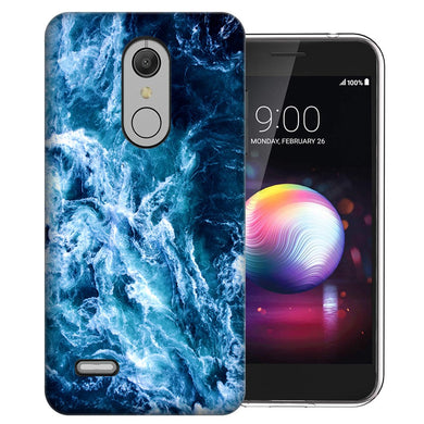 MUNDAZE LG Stylo 5 Deep Blue Ocean Waves Design Phone Case Cover