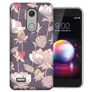 MUNDAZE LG Stylo 5 Vintage Peony Flowers Design Phone Case Cover