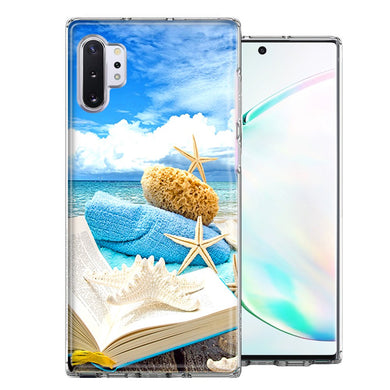 Samsung Galaxy Note 10 Beach Reading Design Double Layer Phone Case Cover