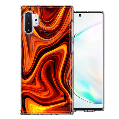 Samsung Galaxy Note 10 Fire Abstract Design Double Layer Phone Case Cover