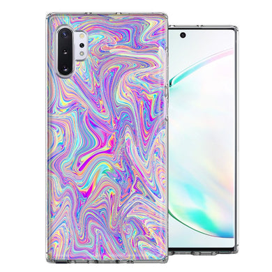 Samsung Galaxy Note 10 Paint Swirl Design Double Layer Phone Case Cover