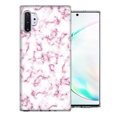 Samsung Galaxy Note 10 Pink Marble Design Double Layer Phone Case Cover