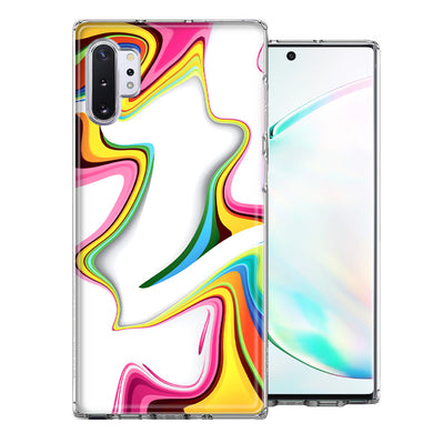 Samsung Galaxy Note 10 Rainbow Abstract Design Double Layer Phone Case Cover